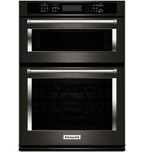 KitchenAid KOCE500EBS 30  Black Stainless Combination Convection Wall Oven