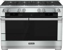 Miele HR1954LP 48  range Dual Fuel with M Touch controls 8 Burners stainless LP