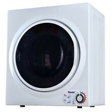 Panda 3 5 cu  ft  Compact Electric Dryer in White and Black  Bottom Control