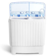 Portable Wash Machine 17 6LBS Mini Compact Twin Tub Laundry Washer Spin Dryer