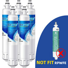 5 PACK Fit For GE RPWF WATER SENTINEL WSG 4 Refrigerator Water Filter Icepure