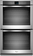 Whirlpool WOD51EC7AS 27 Inch Double Electric Wall Oven Stainless Steel 8 6 cu