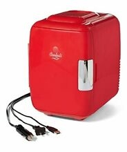 Cooluli Classic 4 liter Compact Cooler Warmer Mini Fridge for Cars Road Trips