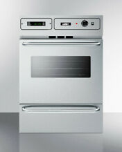 Summit TTM7882BKW 24in Wide 2 92 Cu  Ft  Single Gas Wall Oven   Stainless Steel
