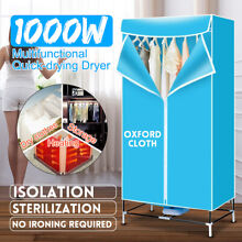 1000W Portable Electric Clothes Dryer Rack Heat Folding Wardrobe Laundry Machine