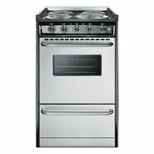 Summit TEM110BRWY 20 Electric Range   Stainless Steel   Black