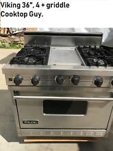 Viking 36   Stainless Range   4   griddle  Nat Gas   vgrc365 in Los Angeles