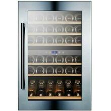 Summit VC60D  24  Wide 59 Bottle Capacity Built In Wine Cooler with Dual
