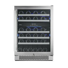 Avallon AWC241DZRH  24  Wide 46 Bottle Capacity Dual Zone Wine Cooler with Right