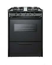 Summit TTM6107CRSW  24  Wide 2 92 Cu  Ft  Built In Gas Range   Black