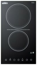 Summit CR2B23T  12  Wide Built In Electronic Cooktop with Automatic Shut Off and