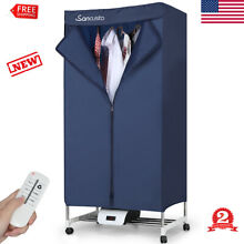 Portable Electric Clothes Dryer Folding Drying Rack Wardrobe Machine 1000W NEW