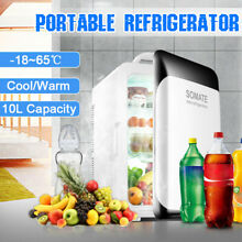 10L 220V Portable Mini Car Fridge Refrigerator Cooler Heating Freezer Box Home