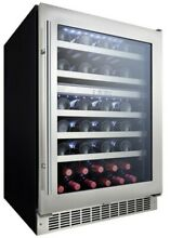 Danby DWC053D1  24  Wide 51 Bottle Capacity Built In Wine Cooler with Dual