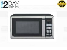 Hamilton Beach 0 9 Cu  Ft  Stainless Steel Microwave Oven Compact Countertop LED
