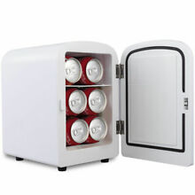 Mini Fridge Portable Cooler Warmer Heats 4L Auto Car Boat Home Office White