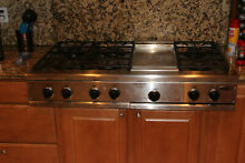 USED 48  PROFESSIONAL DCS 6 BURNER WITH GRILL GAS COOK TOP