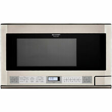 Sharp R1214T  24  Wide 1 5 Cu  Ft  Over the Counter Microwave with Sensor