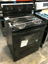 Whirlpool WFC150M0EB 30  Freestanding Electric Range with 4 Coil Elements Black