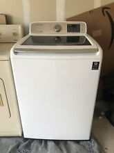 Used Samsung 4 5 cu  ft  Top Load Washer and Kenmore Heavy Dryer  Electric