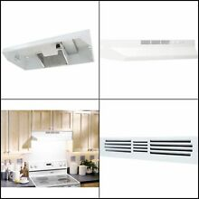 36 Inches Non Vented Range Hood Indoor Exhaust Cleaner Under Cabinet Steel White