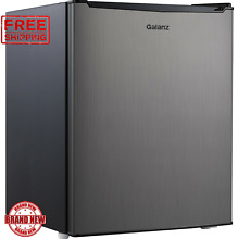Galanz 2 7 Cu Ft Stainless Steel Single Door Mini Fridge