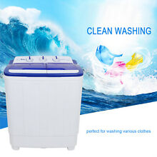 16LBS Top Load Washing Machine Compact Laundry Washer Dryer Twin Tube M1C8
