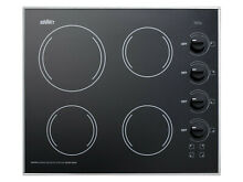 Summit CR425 Black 24 W 4 Burner Electric Cooktop