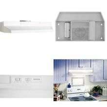 F40000 Series 30 in  Convertible Under Cabinet Range Hood with Light in White
