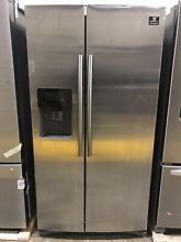 Samsung RS25J500DSR 24 5 cu  ft  Side by Side Refrigerator in Stainless Steel