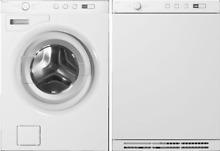 Asko W6424W Front Load Washer   T754W Electric Vented Dryer   Stackable