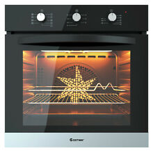 24  Electric Built In Single Wall Oven Embedded Glass Push Buttons Control