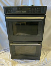 GE Cafe Series CT9550EKDS 30  Double Wall Convection Oven 10 cu ft  Black Slate