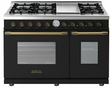 Superior 48  Black Brass 6 Burners   Griddle Natural Gas Range RD482GCNB