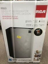 RCA RFR322 B 3 2 Cu Ft Single Door Mini Fridge 3 2 Cu Ft Fridge Stainless Steel