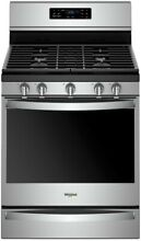 Whirlpool WFG775H0HZ 30  Freestanding Gas Range with Convection Stainless Steel