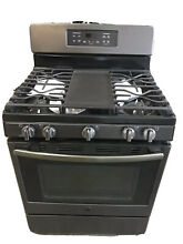 GE JGB700FEJDS 30  Freestanding Gas Range Edge to edge Cooktop in Black Slate