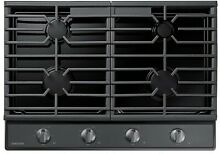 Samsung NA30R5310FG 30  Gas Cooktop Continuous Grates in Black Stainless Steel