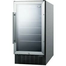 Summit SCR1841BCSSADA 18 W 2 7 Cu  Ft  Built In or   Stainless Steel