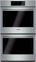 Bosch HBL8651UC 800 Series 30  True Convection Wall Double Oven Stainless Steel