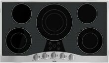 Viking RVEC3365BSB 36  Electric Cooktop 5 QuickCook Surface Elements SS Knobs
