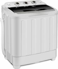 Portable Compact Mini Twin Tub Washing Machine Wash and Spin Cycle 13 lb cap