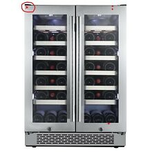 Avallon AWC241FD 42 Bottle 24  Dual Zone French Door Built In Wine Cooler Dented