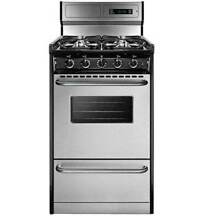 Summit TTM13027BKSW Black Stainless Steel 20 Gas Range   Stainless Steel