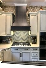 37  Designer Wall Range Hood Solid Wood   NEW   Pick Up only   Stained gray