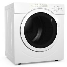 Costway 27lbs Electric Tumble Compact Laundry Dryer Stainless Steel 3 21 Cu  Ft