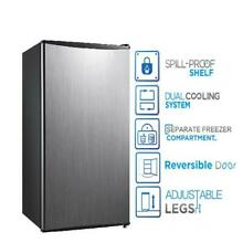 Small Fridge Food Refrigerator Compact 3 3 cu ft Kitchen Home Stainless Steel