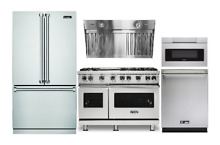 Viking Kitchen Package With 48  Gas Range   Sharp Microwave Drawer