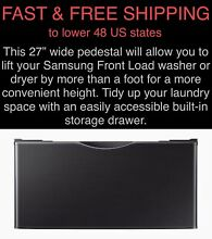 FREE SHIPPING New Samsung Black Stainless Washer Dryer Laundry Pedestal WE402NV