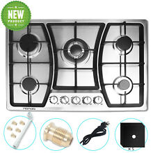 HBHOB 5 Burner 30 inches Gas Cooktop Stainless Steel LPG gas hob Built in cooker